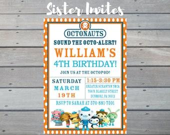 Octonauts Invitation, Octonauts Birthday, Octonauts Invite, Octonauts Party, Octonauts Printable, Octonauts Custom, Octonauts Invitations
