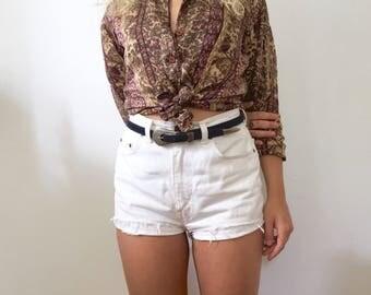 Silk boho shirt