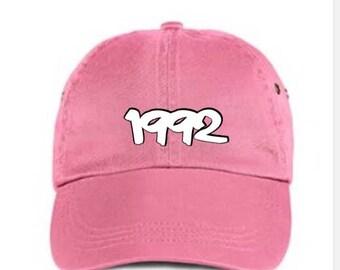 Pink birth year hat