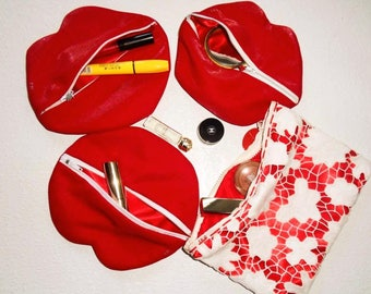 Cosmetic bags with shining pattern