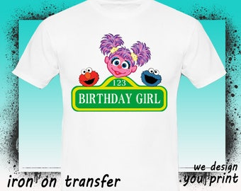 Girl, Sesame Street Iron On Transfer, Sesame Street Birthday Shirt, Sesame Street Transfer, Sesame Shirt, Instant Download, Digital File
