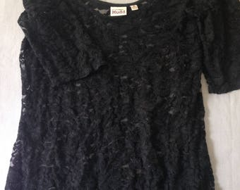 Soft Black Lace Top