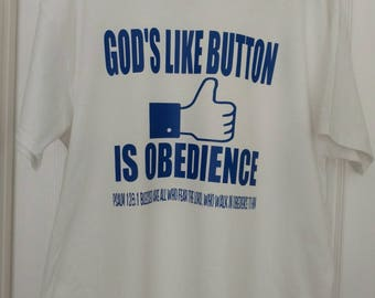 God's Obedience Custom Graphic T-Shirts.