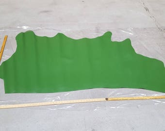 Green Italian Leather Hide 1.4m2 1.3mm thick