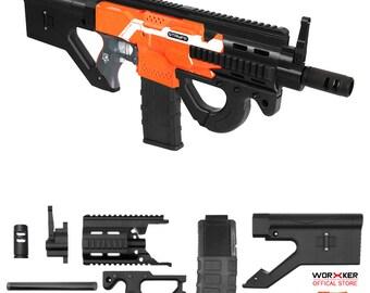 XSW Mod 3D Print Hera CQR Rifle Imitation Kit Black for Nerf STRYFE Modify  Toy