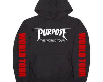 Justin Bieber / Purpose The World Tour / Red World Tour Sleeves Hoodie