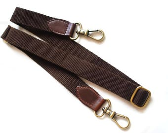 Brown Cotton Straps for Tote Bag with Wide 2 cm long 120 cm.