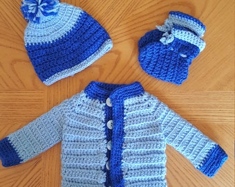 Newborn Baby Boy Sweater Set