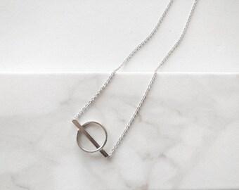 Aailia Silver Geometric Necklace