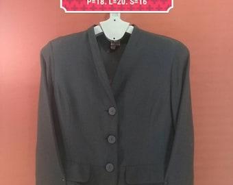 Vintage Krizia Poi Blazer Ladies Coat Made in Italy Black Colour Yohji Yamamoto Comme des Garcons YSL Blazer