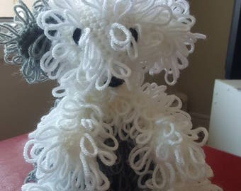 Handmade crochet Sheep Dog,  gift, puppy