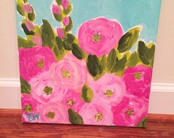 "12"" x 12"" fun floral"