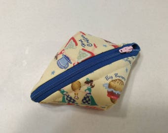 Super SweetPea Pouch - Small Zippered Pouch - Retro Diner