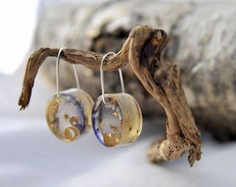 Birch resin earrings
