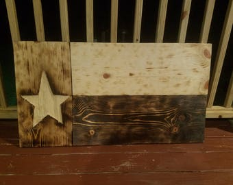 Rustic State Wood Flag