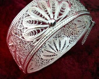 Silver bracelet B502 filigree 40gr
