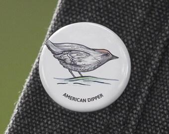 American Dipper Birder Pin
