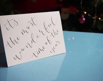 Calligraphy Christmas Card