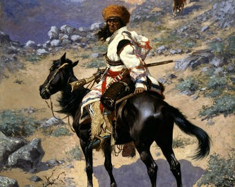 An Indian Trapper Painting by Frederic Remington Art Print Reproduction