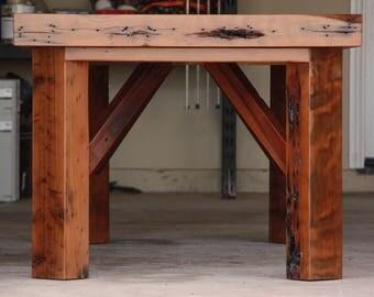 Reclaimed Redwood Harvest Table