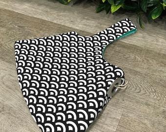 Japanese Fan Bag Handmade - Reversible