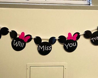Minnie and Mickey Mouse head banner