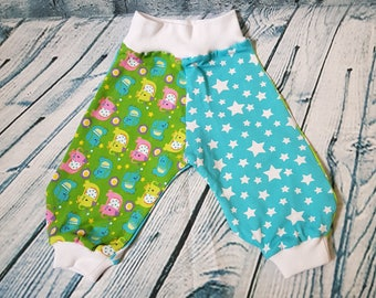 Cute colorful bloomers with elephants for newborns - first pants