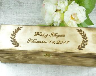 Personalized Wine Box - Wedding Wine Box - Ceremony Wine Box - Anniversary Wine Box - Wedding Gift For Couple - Wine Box Ceremony - Wine Box