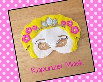 Rapunzel Inspired Felt Mask- Child's Dress Up and Imaginary Play- Birthday Party Favor-Photo Shoot-Pretend Play-Theme Party-Princess Party