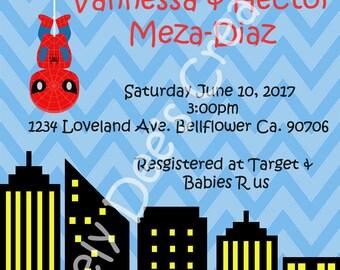 Super Hero Baby Shower Invitation, Superhero Invitations