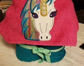 Hooded Unicorn Towel