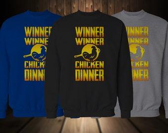 PUBG PARODY CREWNECK Sweater Winner Winner Chicken Dinner