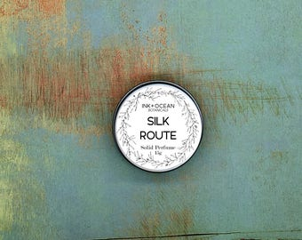 Silk Route - Solid Perfume, Vegan, Alcohol Free. Orange, Cinnamon, Clary sage, Ylang Ylang, Ginger And Sandlewood Essential Oils.