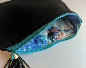 Handmade After the Storm Insulated Pouch,Zipper Pouch,Diabetic Supply Bag,Diabetes Bag,Makeup Bag,Cosmetics Bag,Clutch,Charitable Gift,JDRF