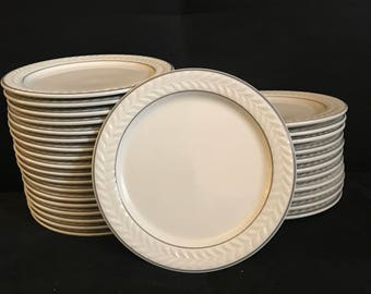 Vintage 30 Piece Shenango China Bread Plate Set Antique Dinnerware Mint Condition
