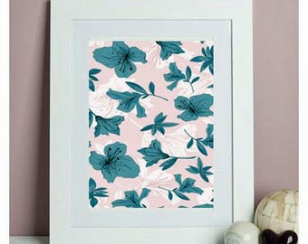 Teal and Pink Photo Print