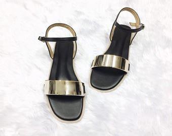 GOLDEN STRAP women shoes