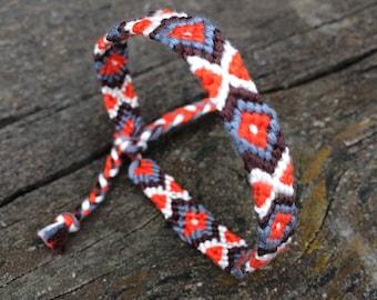 Friendship  bracelet,handmade,hand woven,soft pure cotton,hippie,boho,aztec