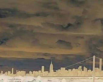 New York City in the clouds