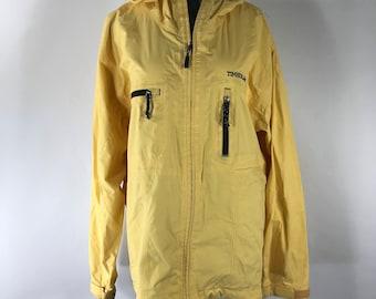 Vintage 90s Timberland Yellow Weathergear Windbreaker Jacket Sz Large