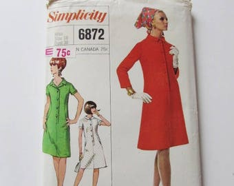 Woman's Vintage 1960's, Size 18 A-Line Dress Simplicity 6872 - Used