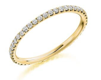 1.5 mm Full Eternity Fine Diamond Ring 18 ct Gold