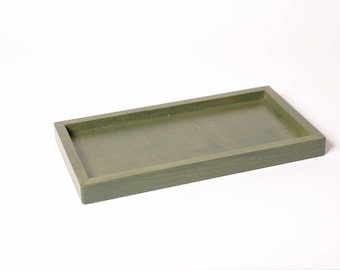 Pine green tray for 5 soap dish