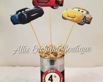 Cars Disney Centerpiece Cars Centerpiece Cars Table Decorations Cars Lightning McQueen Cars Birthday Decorations Cars Birthday Party