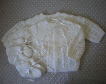 Bras baby 0-3 months Cardigan handmade new