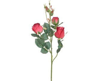 Artificial Wild Roses in Red H 55 cm