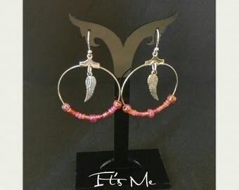 """Earrings """"Angel wings in the red"""""""