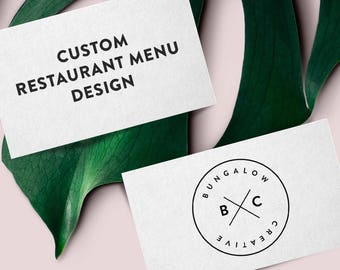Custom Restaurant Menu Design