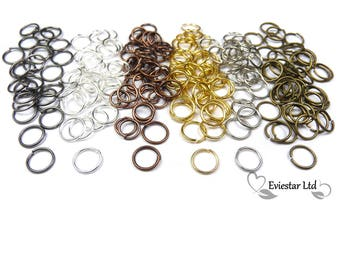 Metal Open Jump Rings 7mm Diameter Thick 0.7mm, Jewellery Findings, Close but Unsoldered, Multi Colors Available, AKB