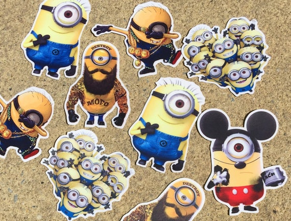 items similar to decal minions stickers laptop decal laptop sticker phone decal phone sticker